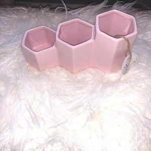 Home Goods 3 Compartment Makeup Organizer Pink
